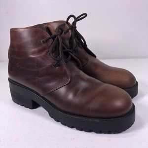 Calvin Klein Ankle Lace Up Boots